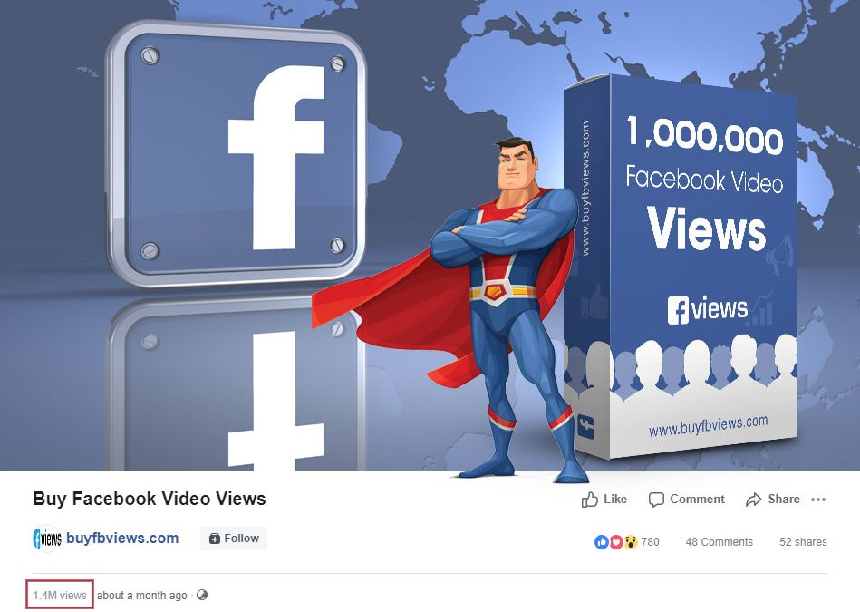 Cheap Facebook Views, Buy Facebook Video Views at $3, Instant Delivery
