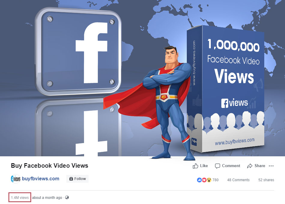 Buy real facebook video views, buy facebook video views cheap
