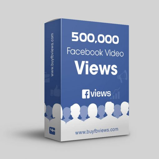 Buy 500K facebook video views