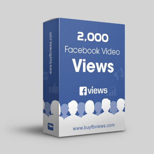 Buy 2000 facebook video views
